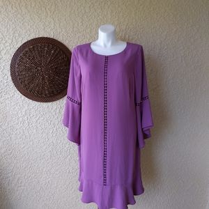 Whbm sheath dress bell sleeve